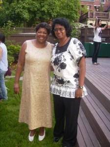 Saratah with President Jackie Jenkins-Scott